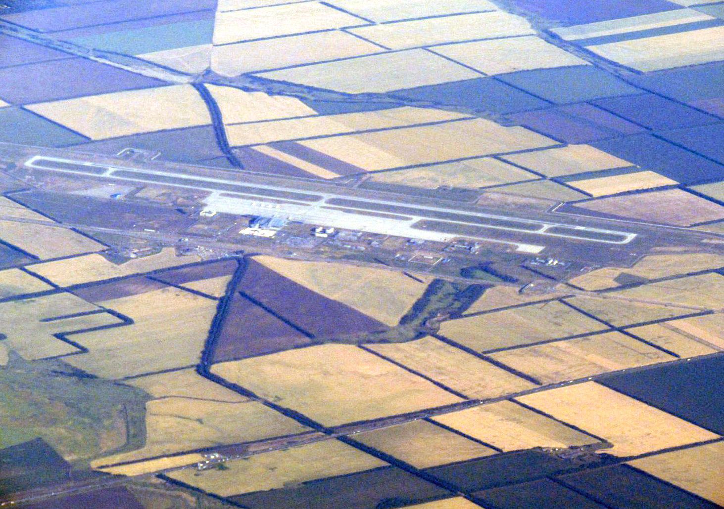 Вид сверху на аэропорт Ростов-на-Дону Платов