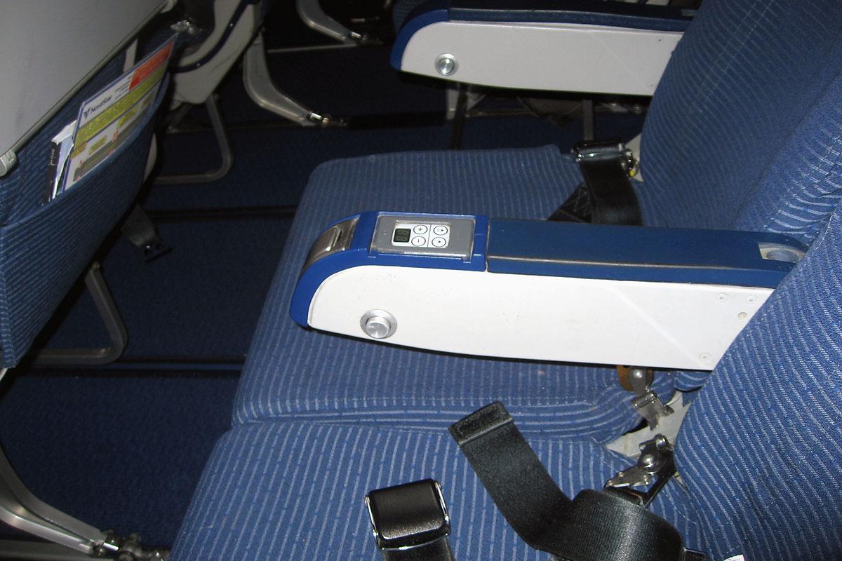 Салон в самолете Боинг-737-800 авиакомпании НордСтар