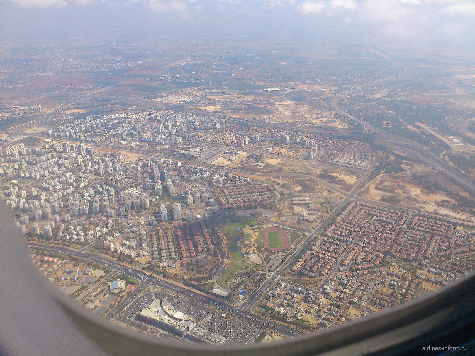 Взлет из аэропорта Тель-Авив