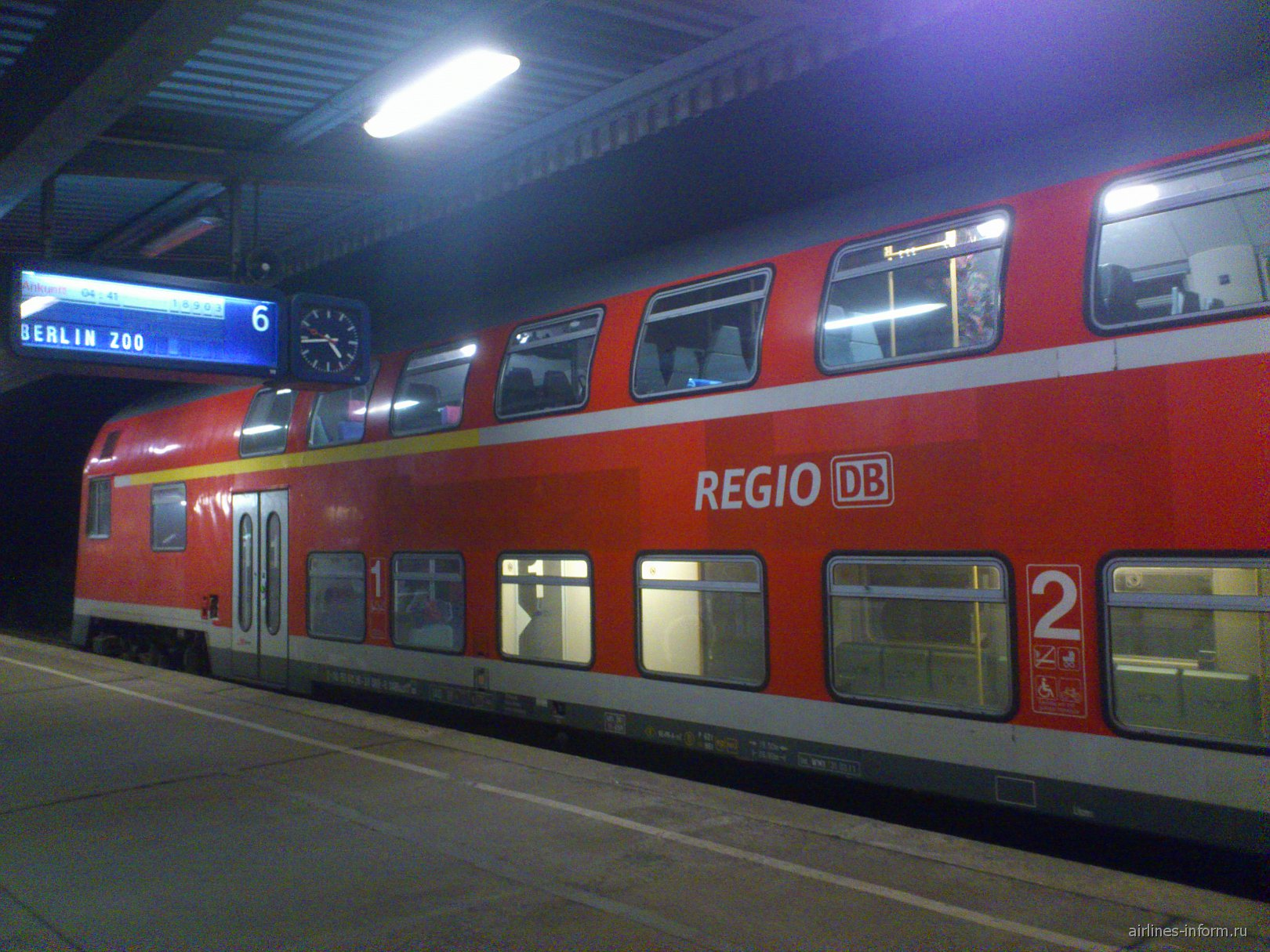 Поезд из Берлина в аэропорт Шонефельд