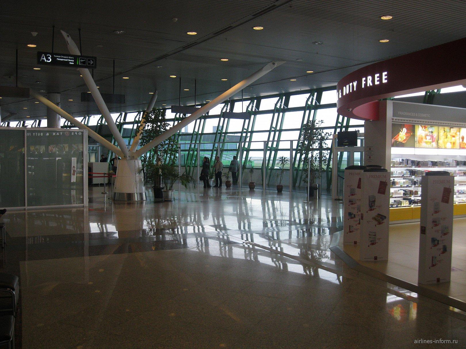 В чистой зоне аэропорта Астаны
