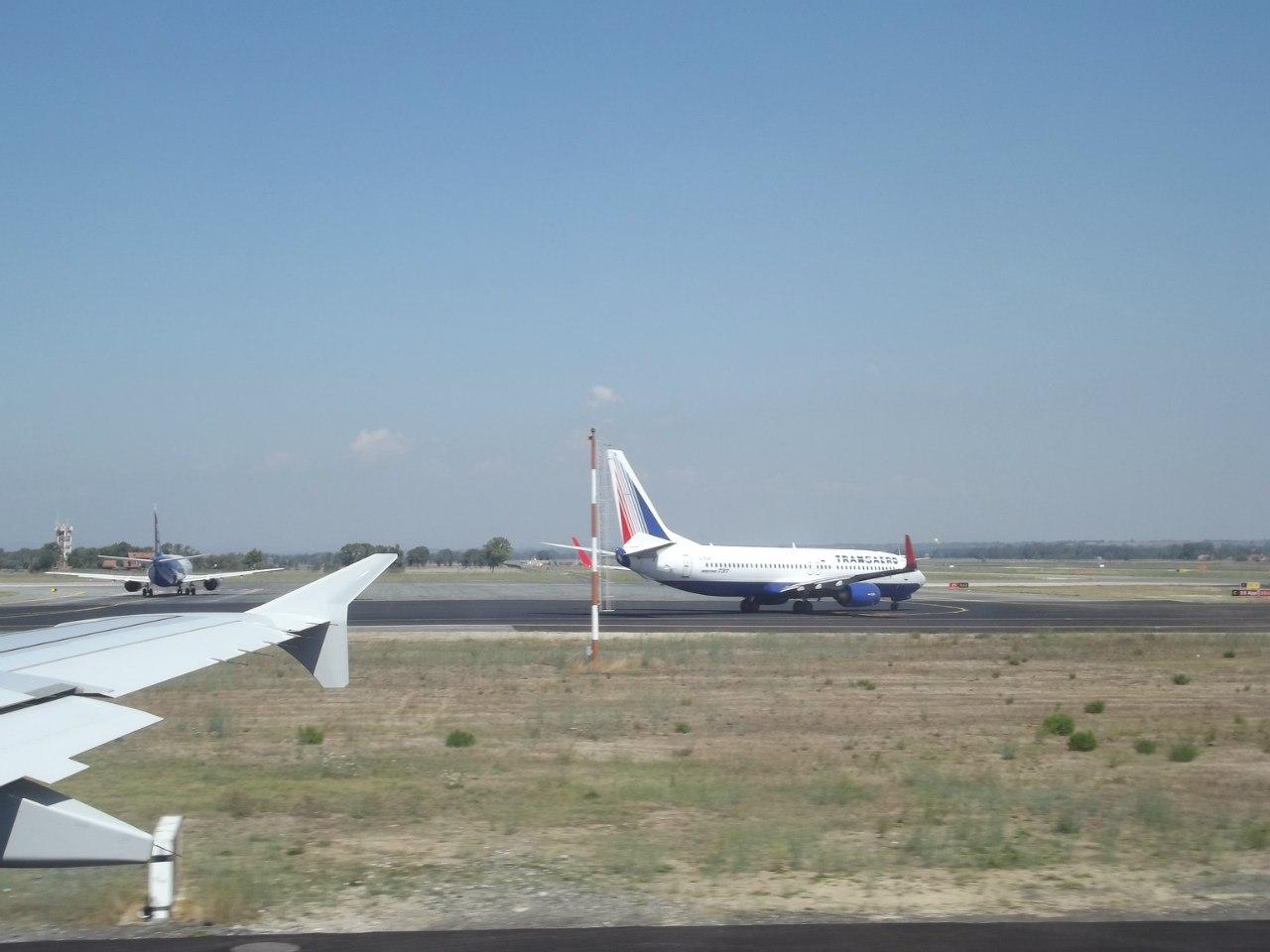 В аэропорту Рим Фьюмичино
