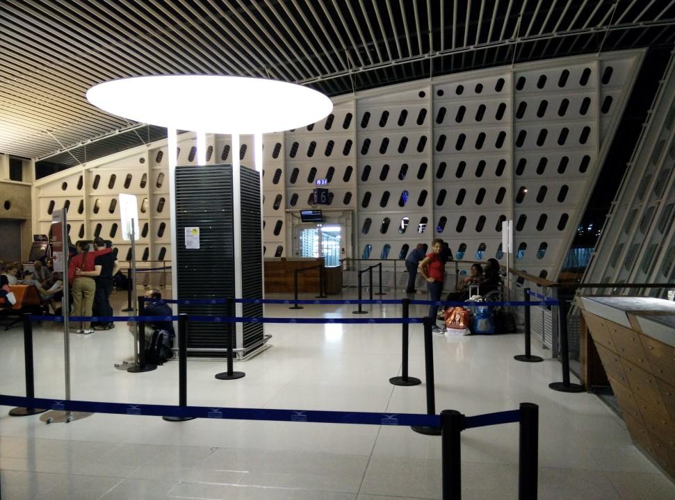 В чистой зоне аэропорта Пуэнт-а-Питр