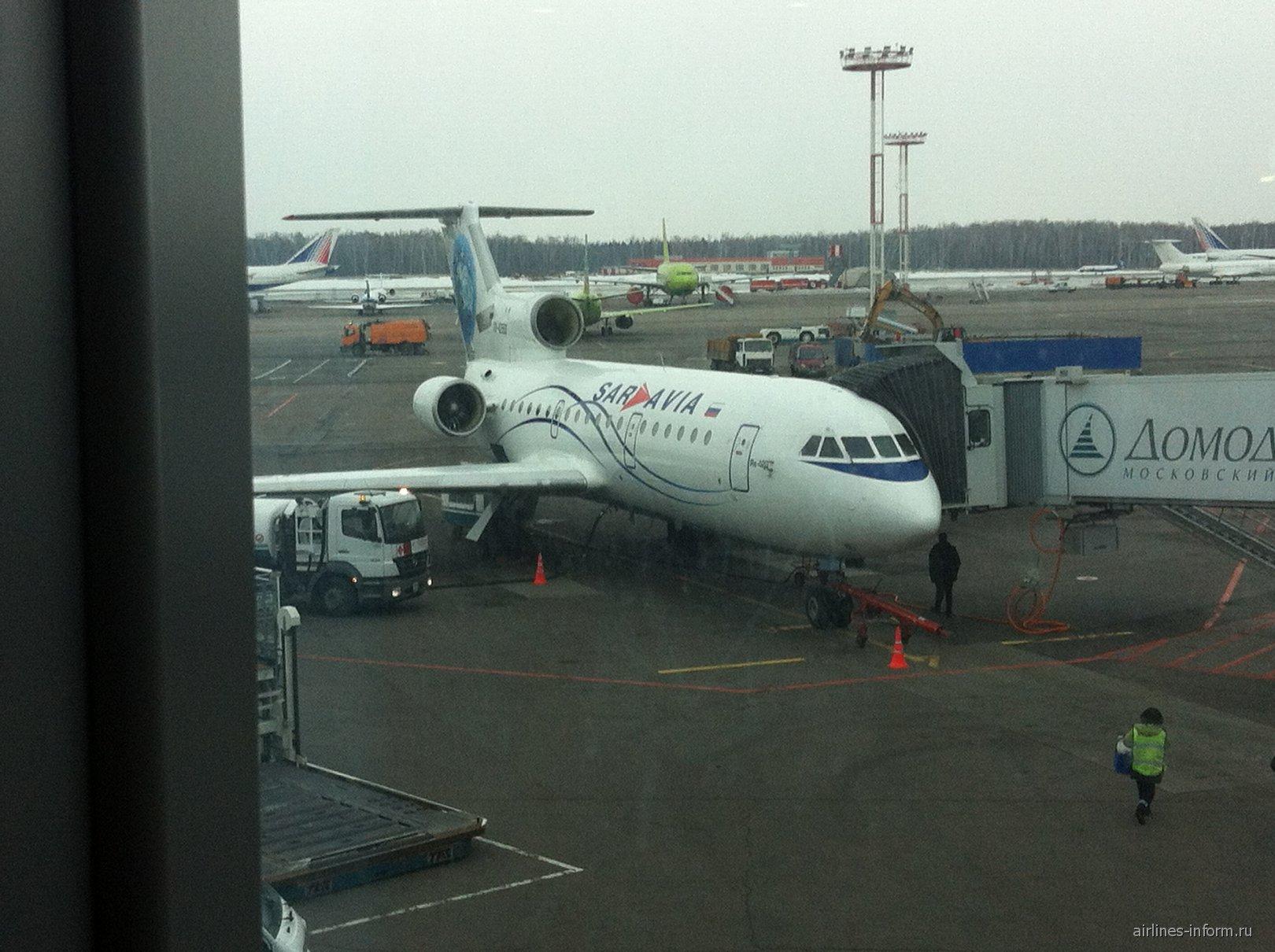 Як-42 авиакомпании Саравиа в аэропорту Домодедово