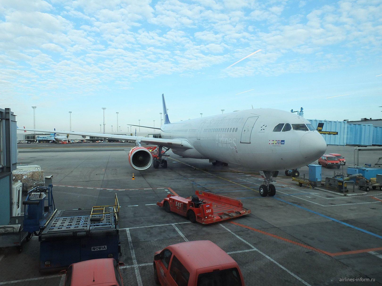 Airbus A330-300 авиакомпании SAS в аэропорту Копенгаген Каструп