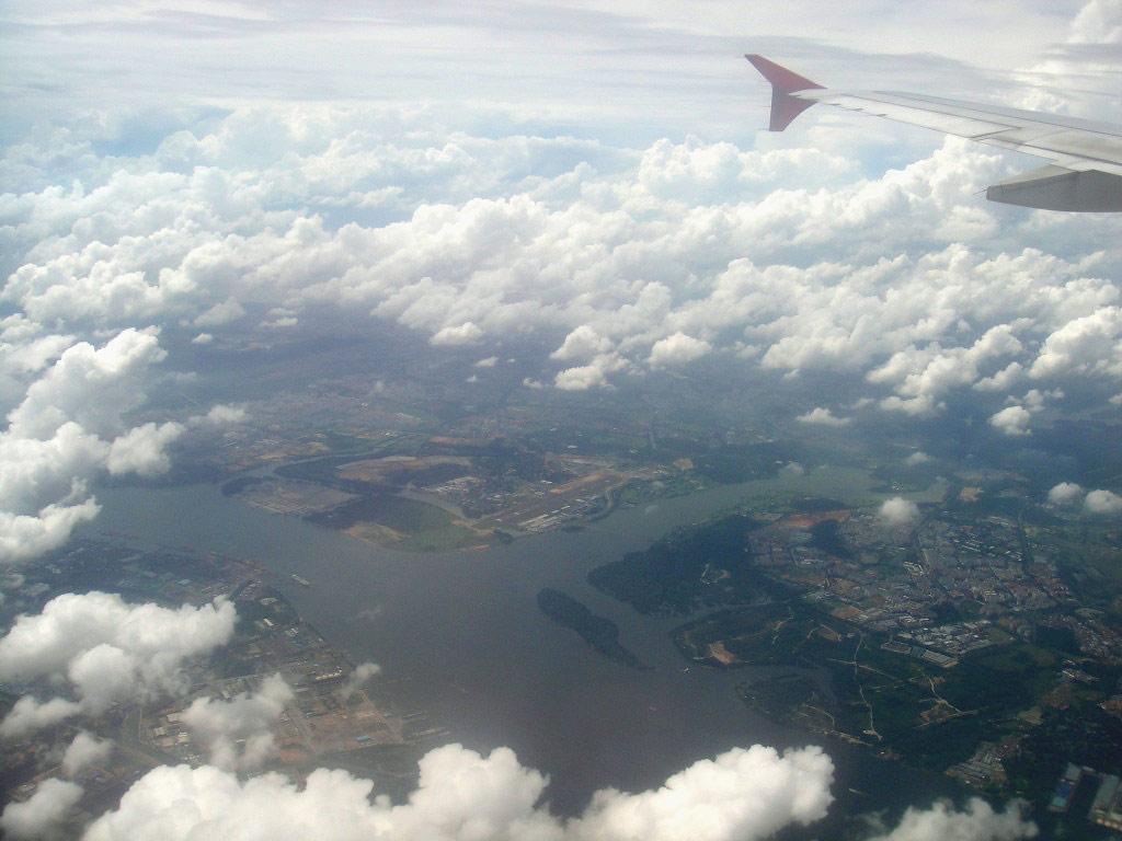 Flying over Malaysia