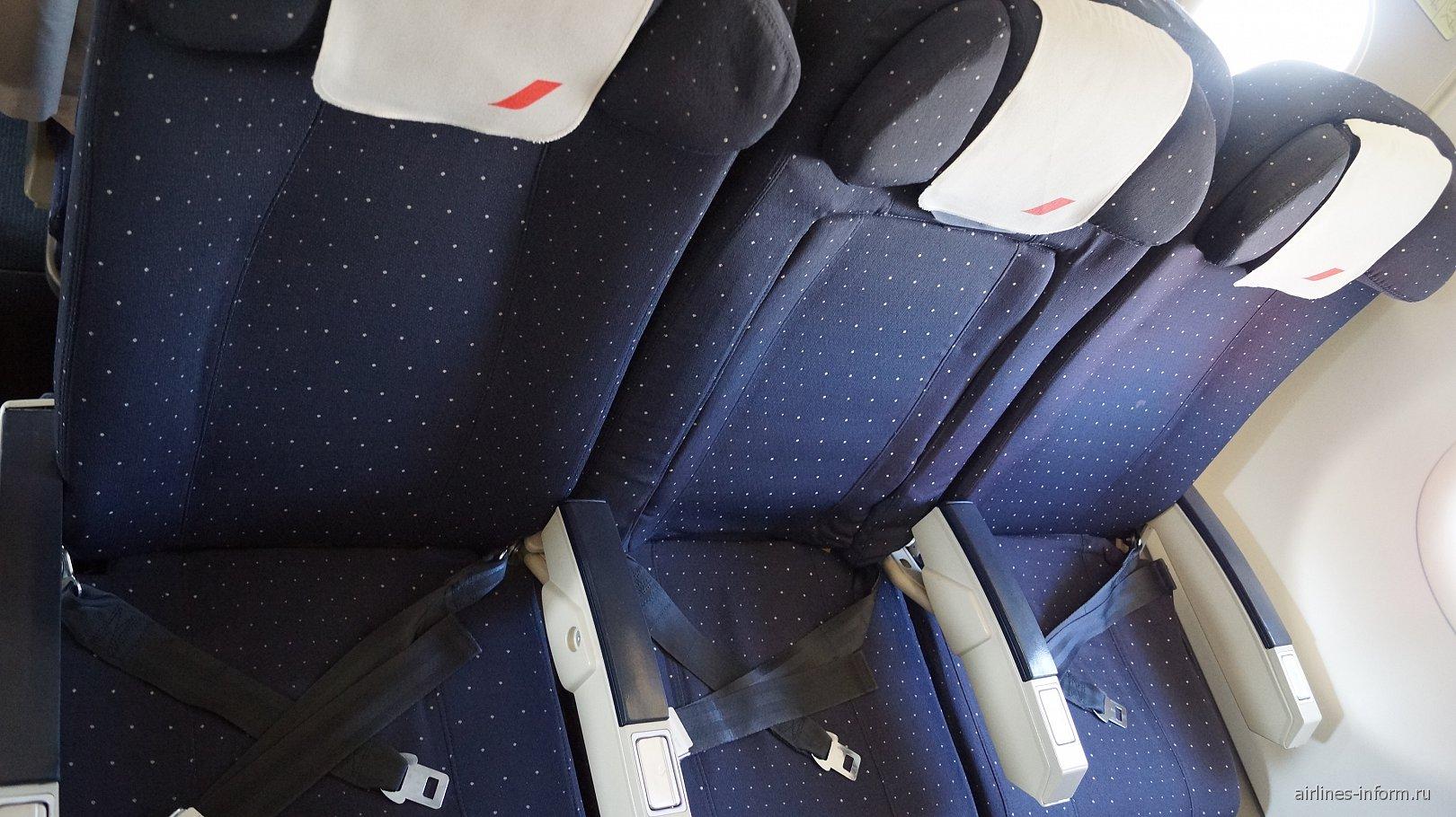 Экономический класс в самолете Airbus A321 авиакомпании Air France