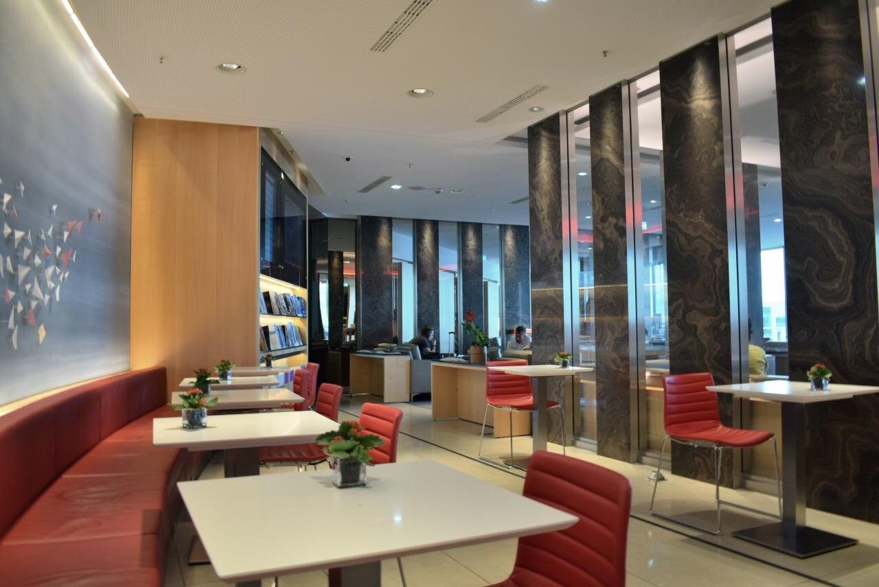 "Бизнес-зал ""Maple Leaf Lounge"" авиакомпании Air Canada в аэропорту Франкфурт"