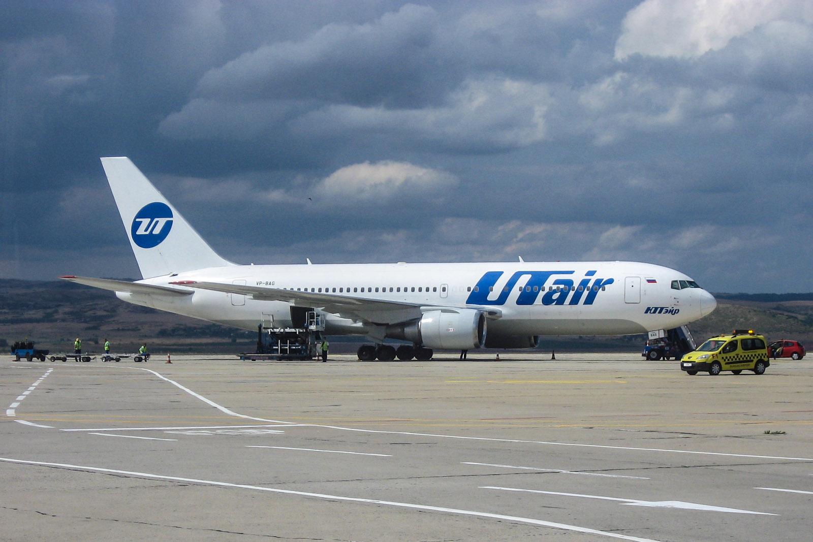 Из Бургаса в Москву на Боинге-767-200 ЮТэйр