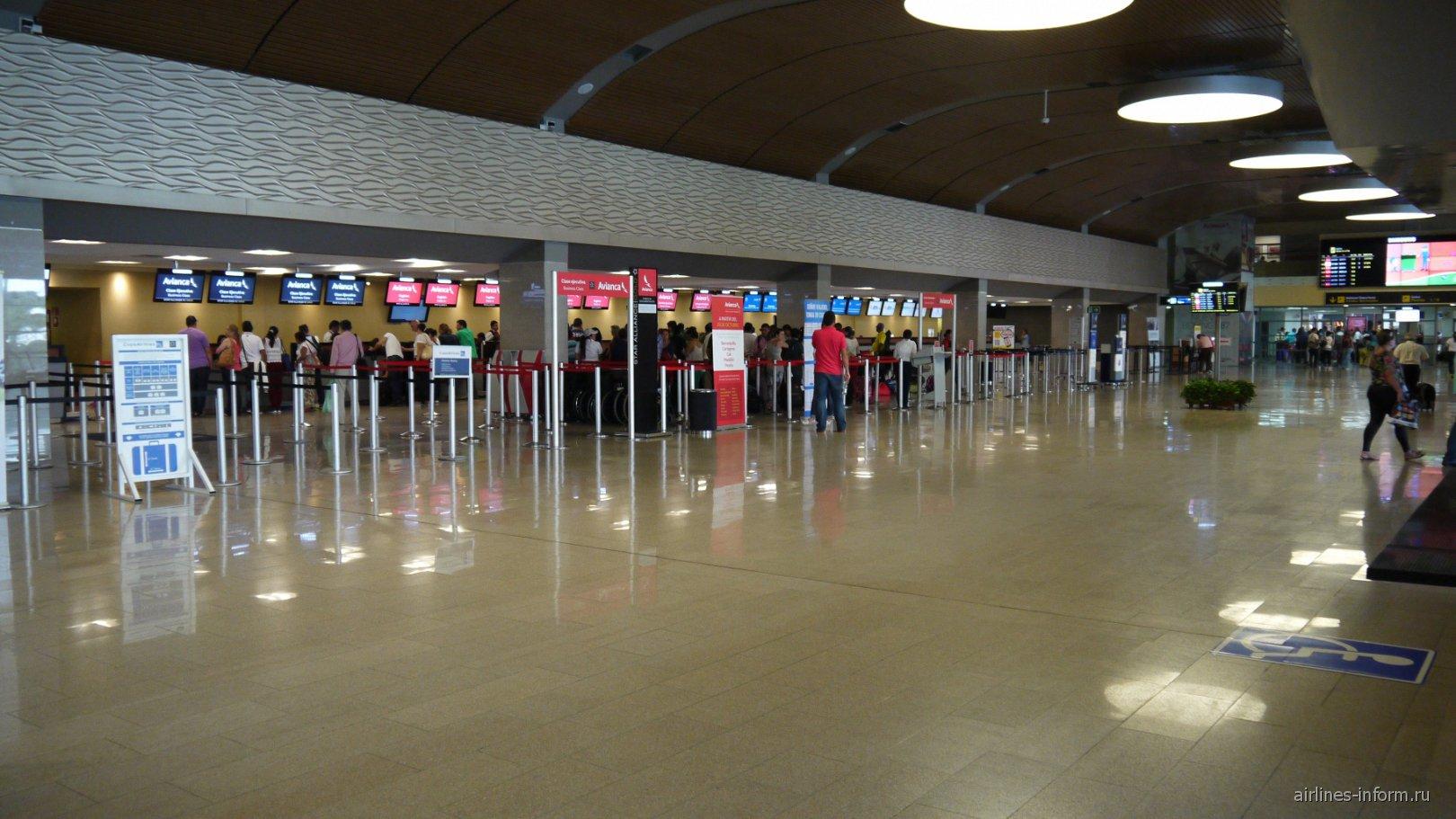 Зал регистрации в аэропорту Картахена Рафаэль Нуньес