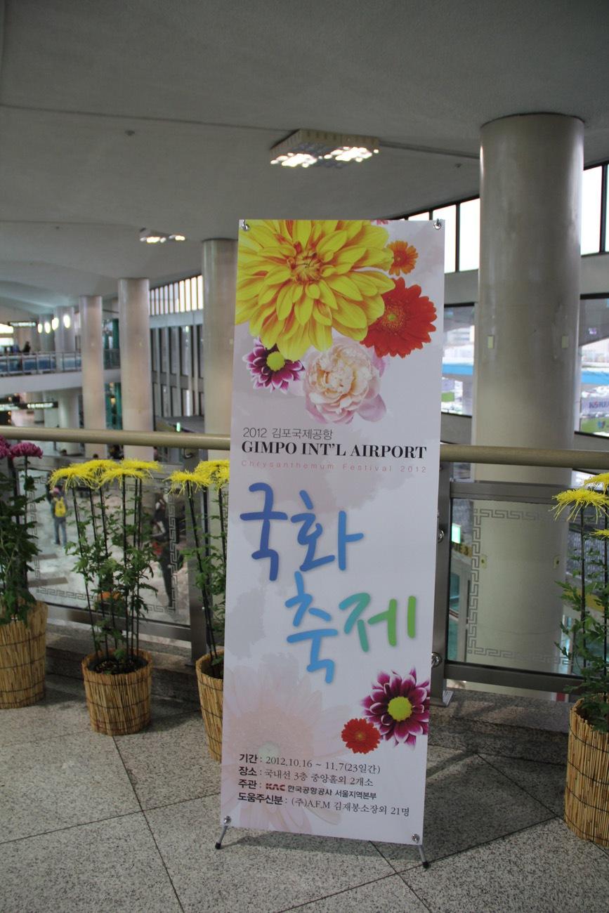 Chrysanthemum festival at the Gimpo International airport