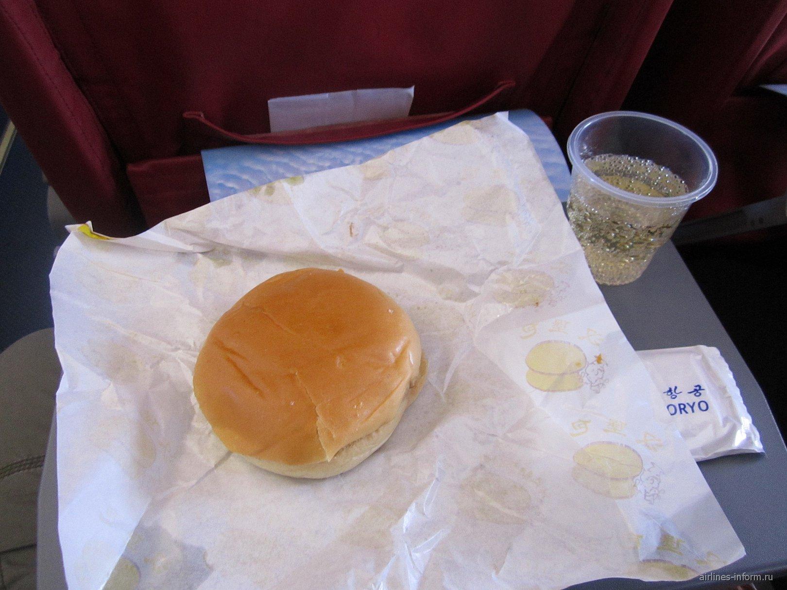 Питание на рейсе Пхеньян-Владивосток авиакомпании Air Koryo