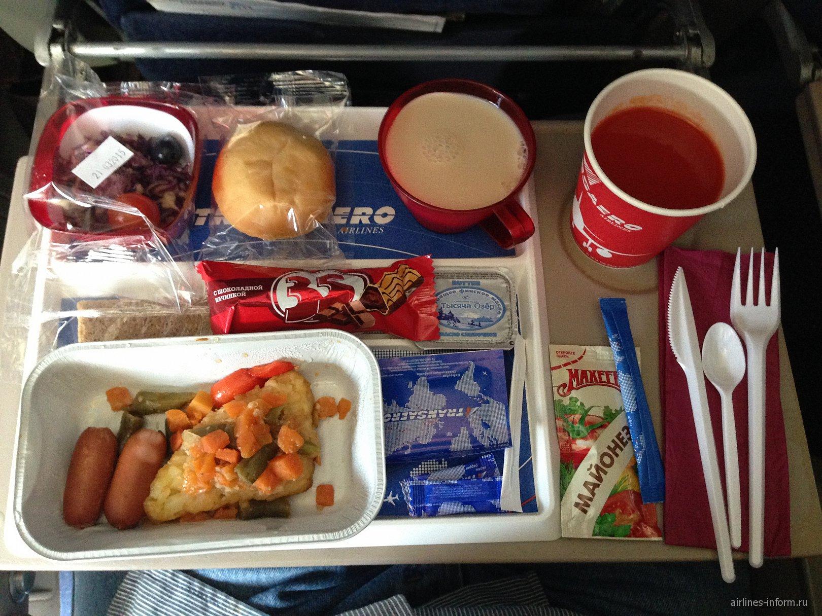 Бортпитание на рейсе Москва - Пунта-Кана авиакомпании