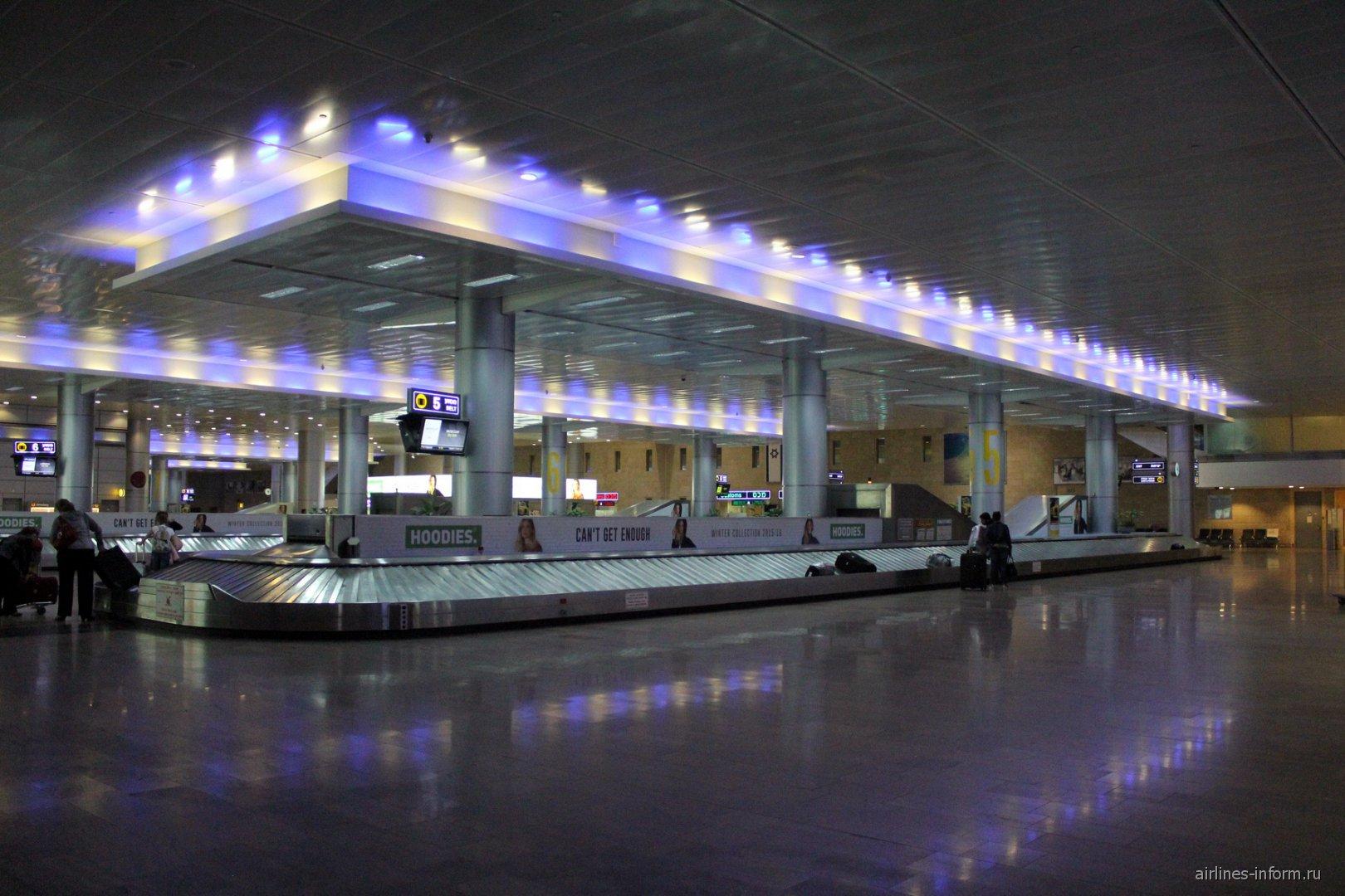 Багажная лента в аэропорту Тель-Авив Бен-Гурион