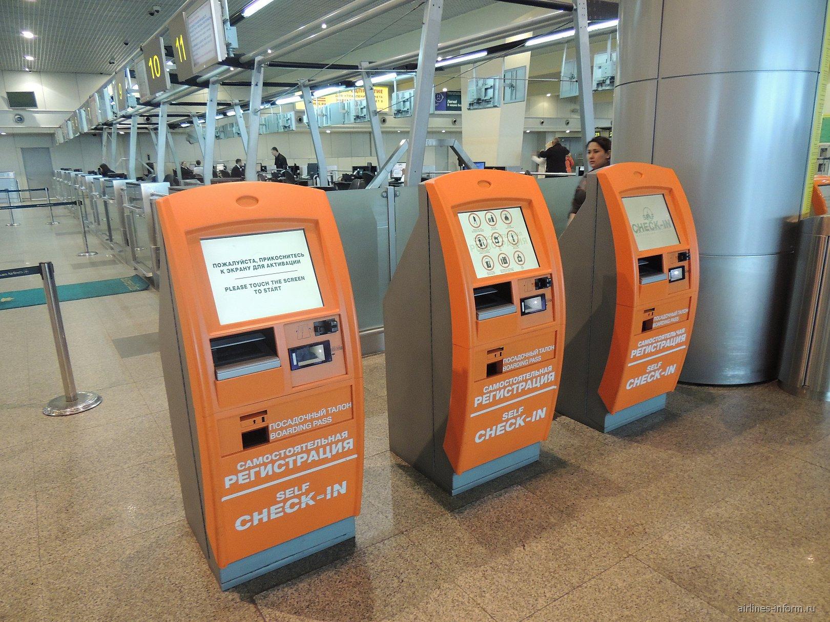 Киоски самостоятельной регистрации в аэропорту Домодедово