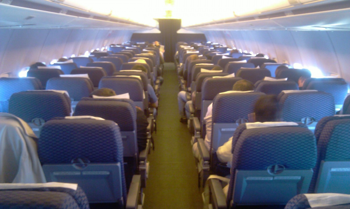 Passenger cabin of UTair Boeing 737-500