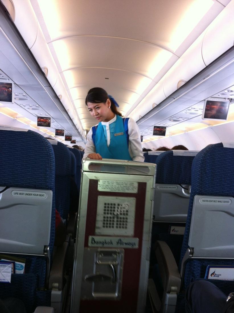 At an Airbus A319 of Bangkok Airways