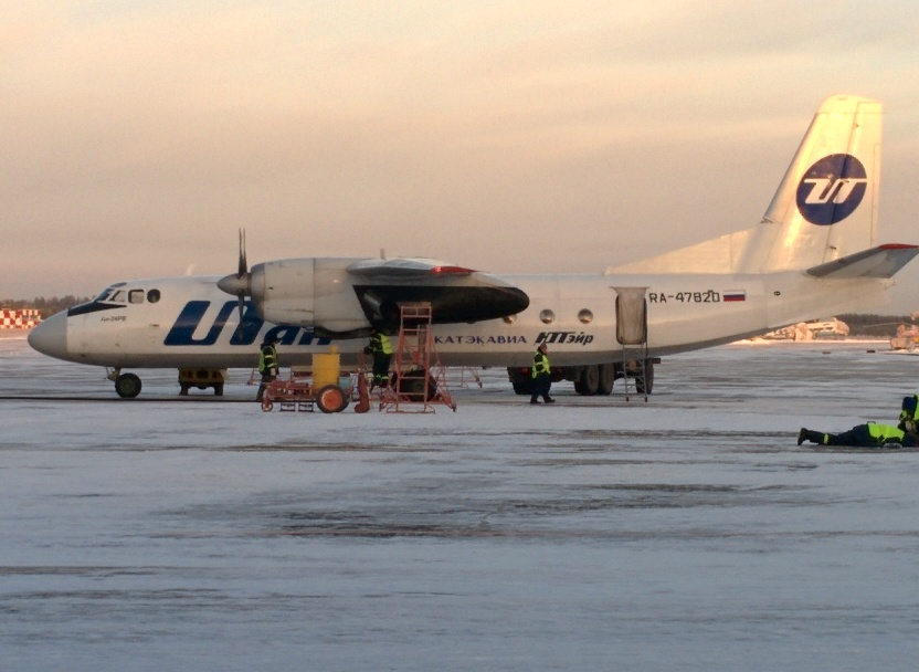 Ан-24 Катэкавиа в аэропорту Ухта