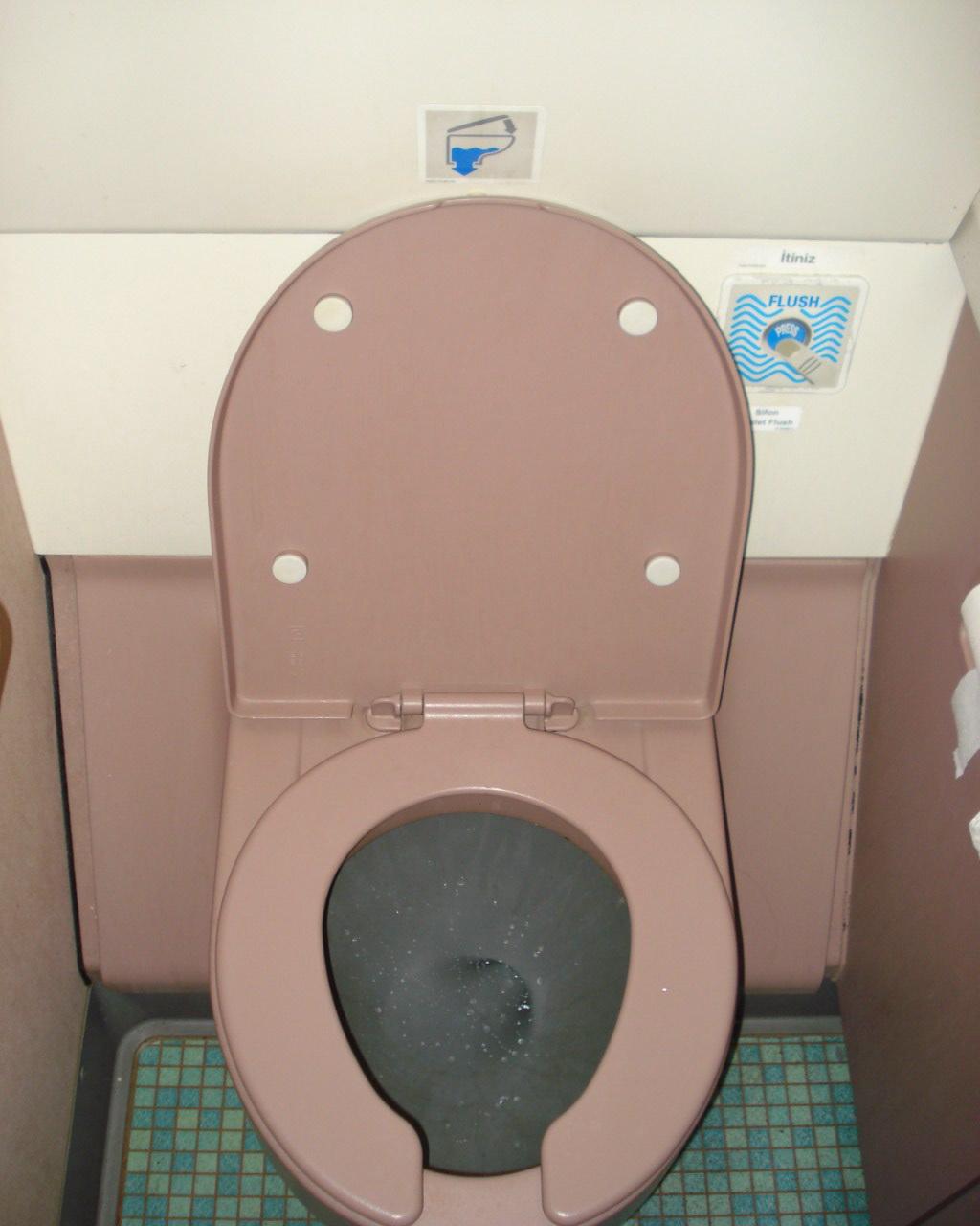 Туалет самолета Airbus A320 Турецких авиалиний