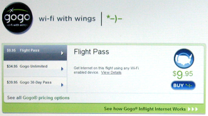 Интернет на борту самолета авиакомпании Delta Air Lines