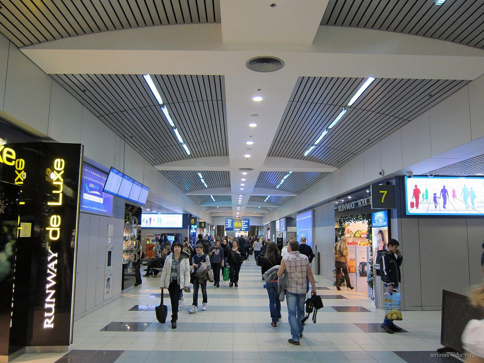 В чистой зоне вылета международных рейсов аэропорта Домодедово