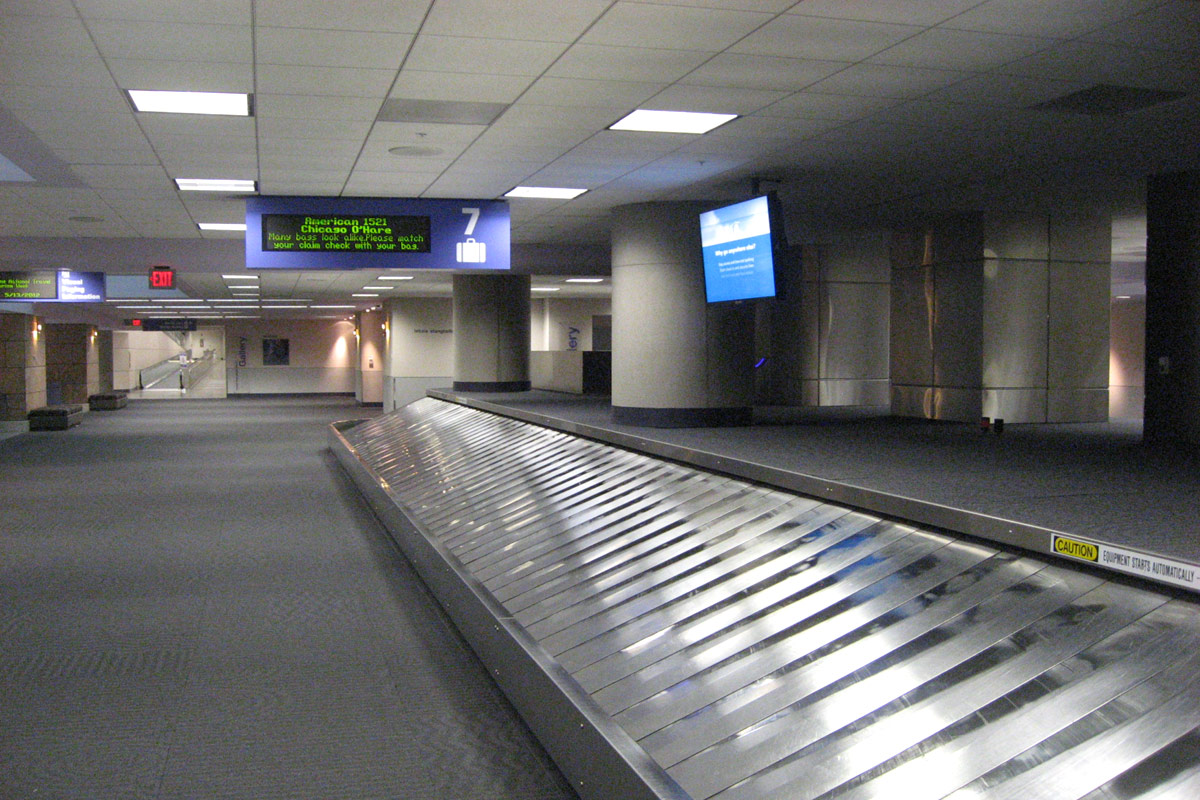 Baggage claim area of Tucson airport