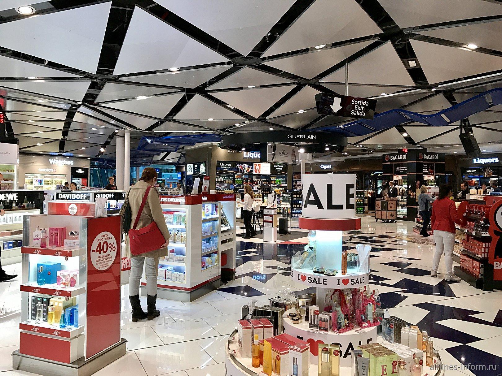 Магазин Duty Free в аэропорту Барселоны