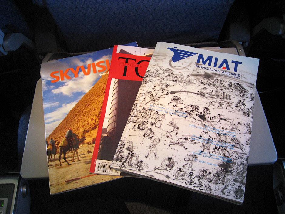 Flight magazines of MIAT Mongolian Airlines