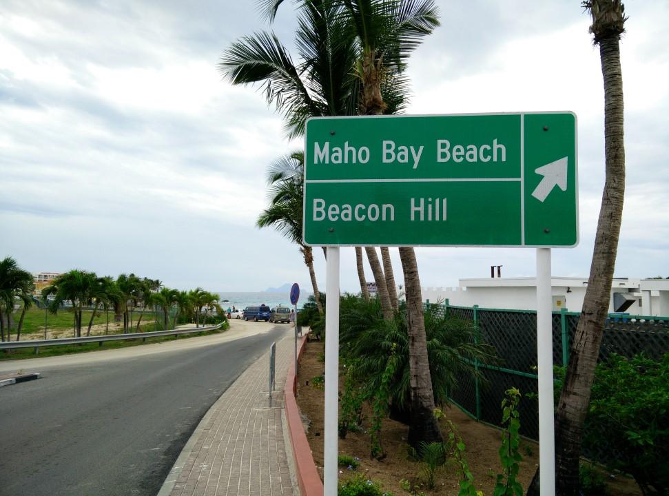 Пляж Махо-Бэй на острове Сен-Мартен