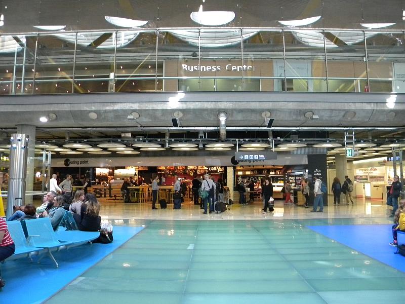 """""""Точка питания"""" в терминале 4 аэропорта Мадрид Барахас"""
