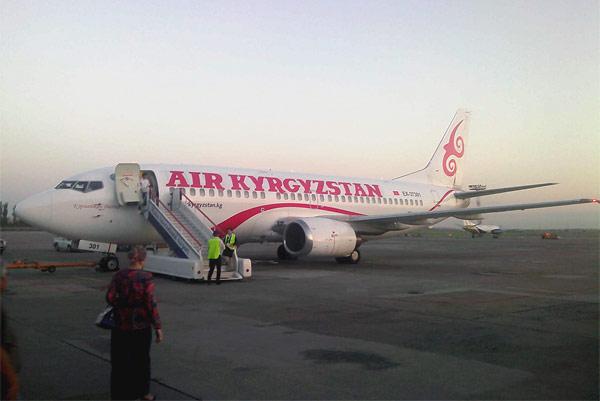 Бишкек - Ош на боинге 737-300 Air Kyrgyzstan