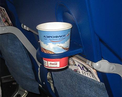 Прохладительные напитки на борту Аэрофлота