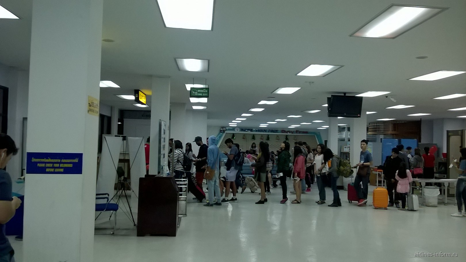 Зона регистрации в аэропорту Утапао