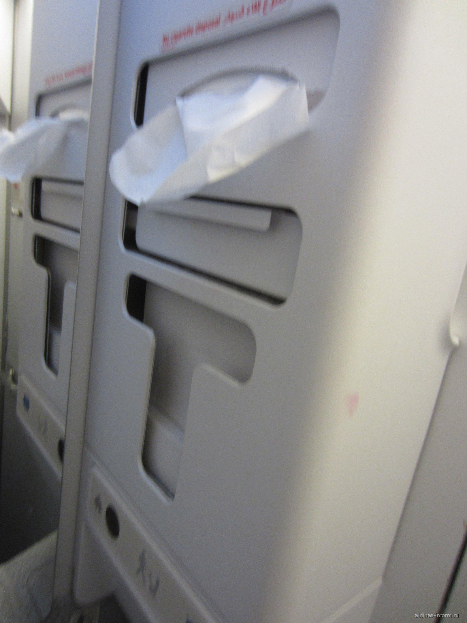 Туалет самолета Airbus A320 авиакомпании Air Arabia