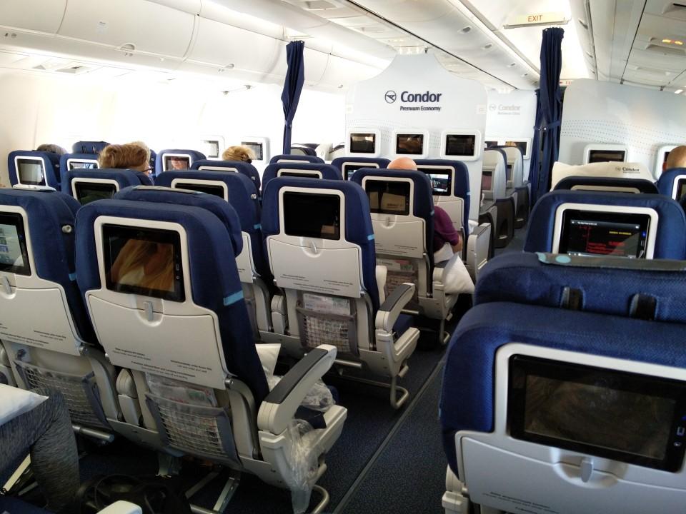"""Салон класса """"Premium Economy"""" в Боинге-767-300 авиакомпании Condor"""