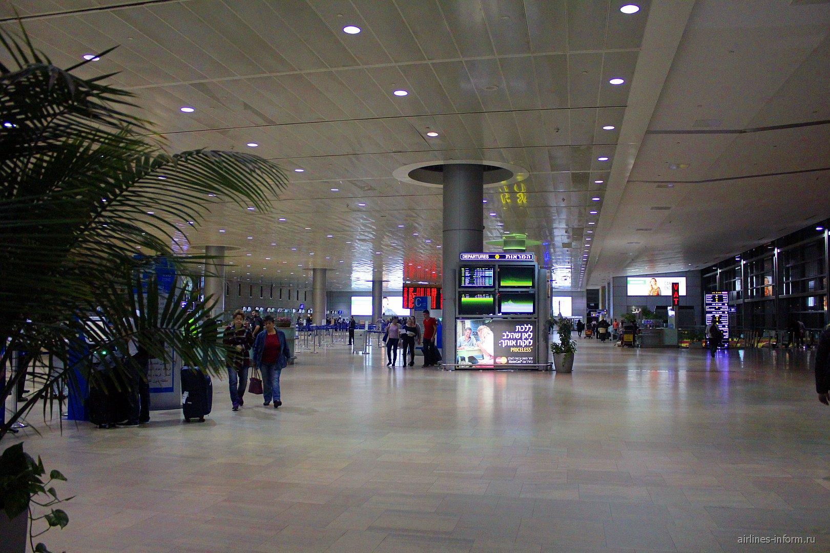 Сектор C зала вылета аэропорта Тель-Авив Бен Гурион