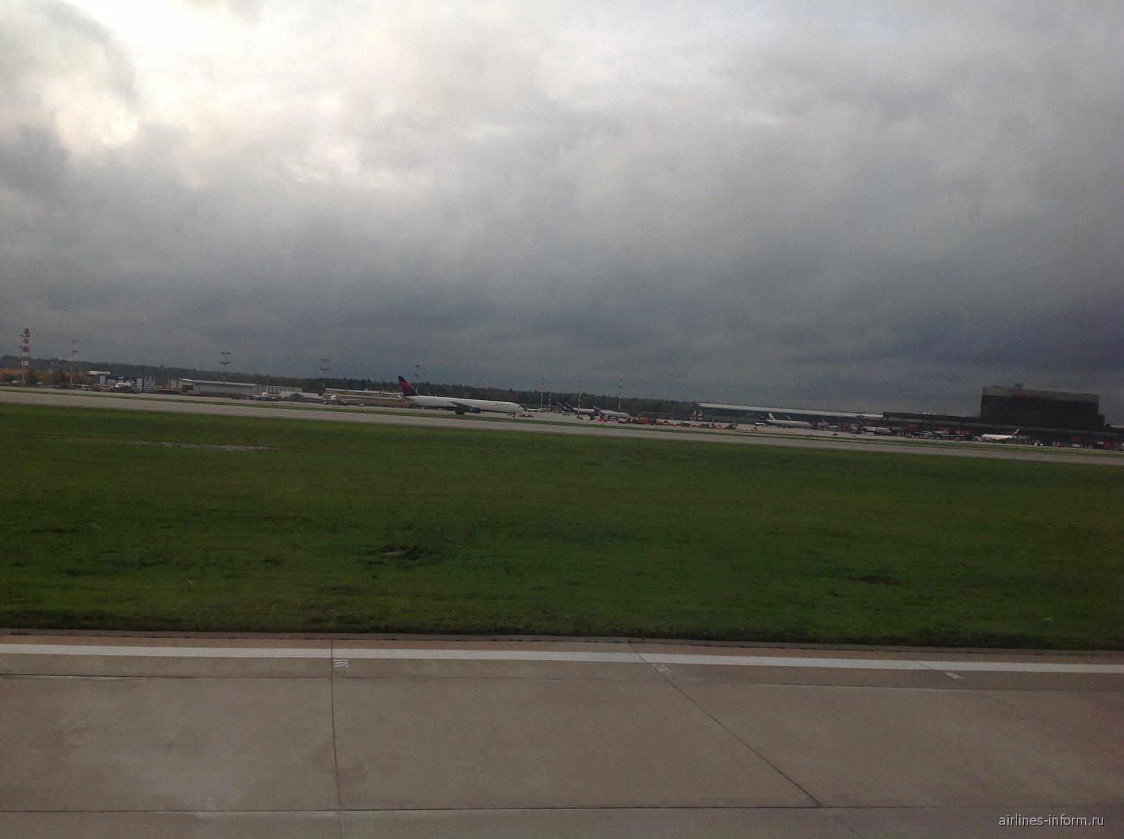 Посадка в аэропорту Шереметьево