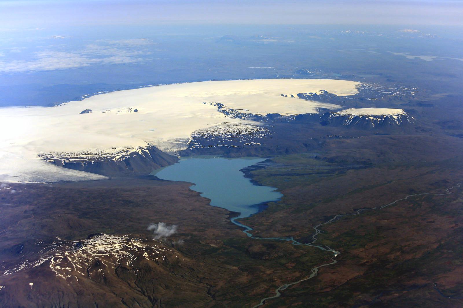 В полете над Исландией
