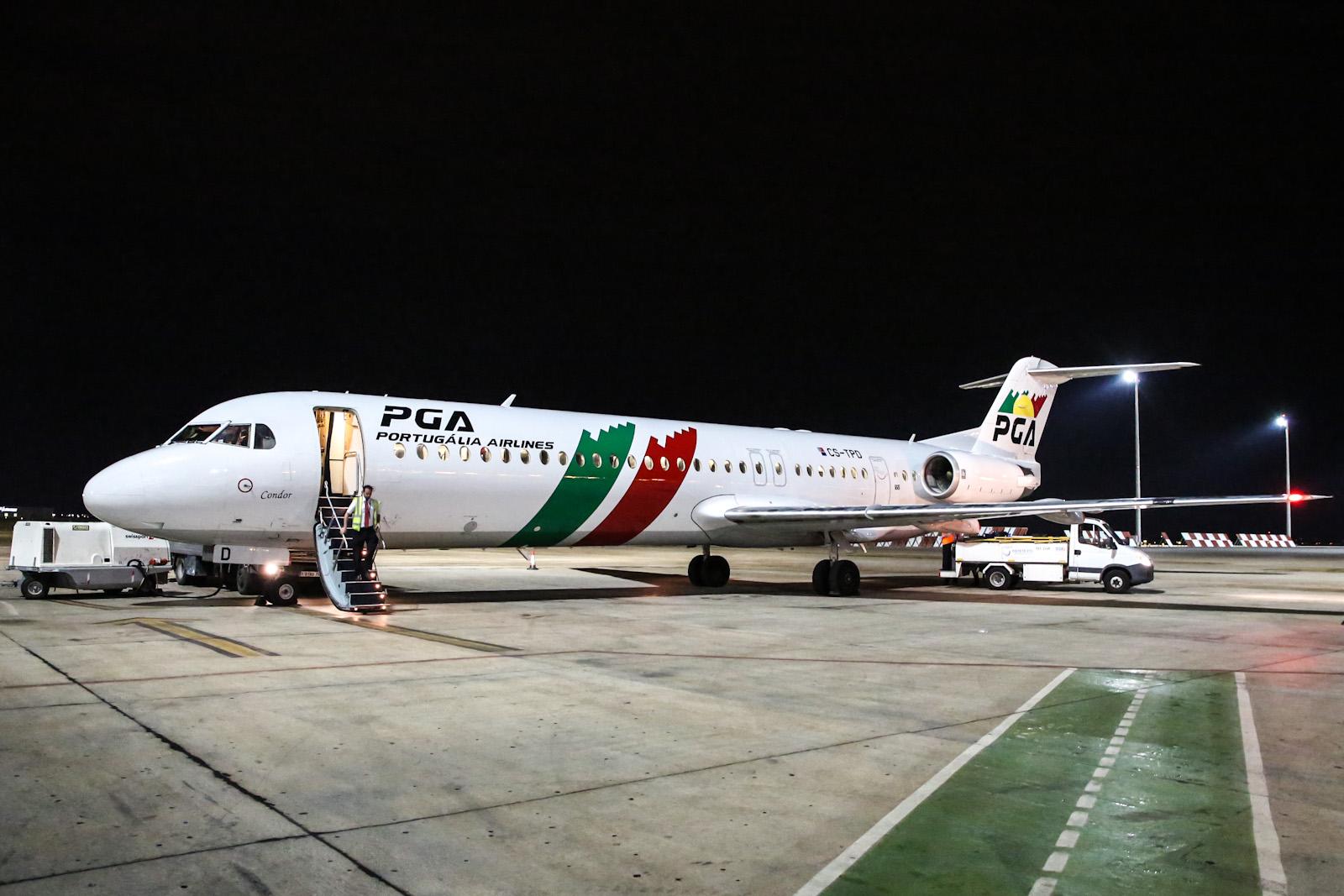 Лиссабон-Валенсия на Fokker-100 PGA