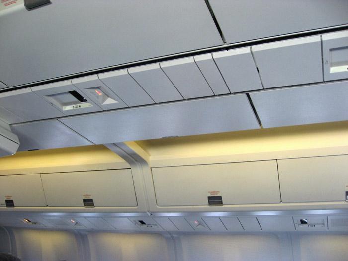 Салон самолета Боинг-767-300 авиакомпании Аэросвит
