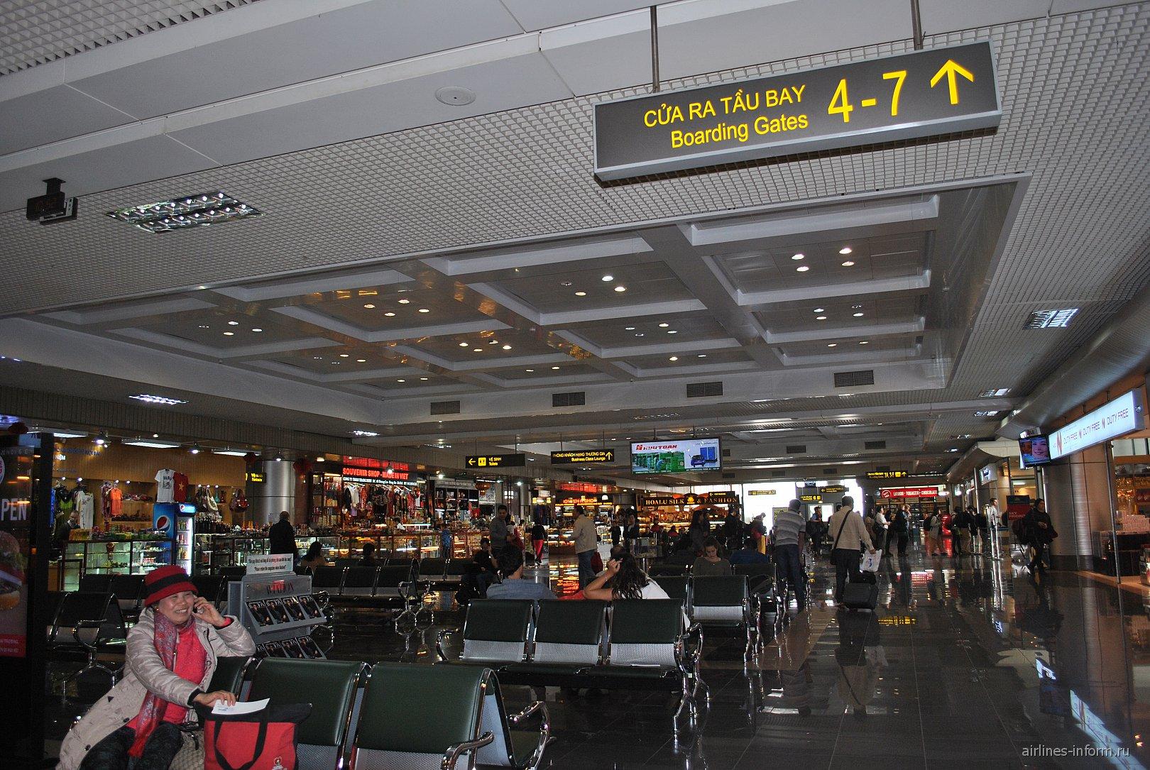 В чистой зоне аэропорта Ханой Ной Бай