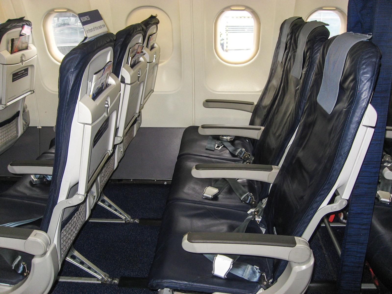 Пассажирские кресла улучшенного эконом-класса в Airbus A320 Брюссельских авиалиний