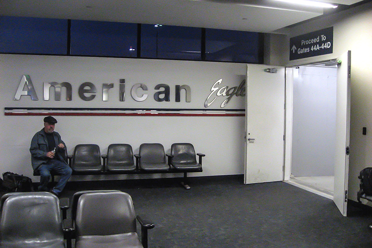 American Eagle terminal at LAX airport