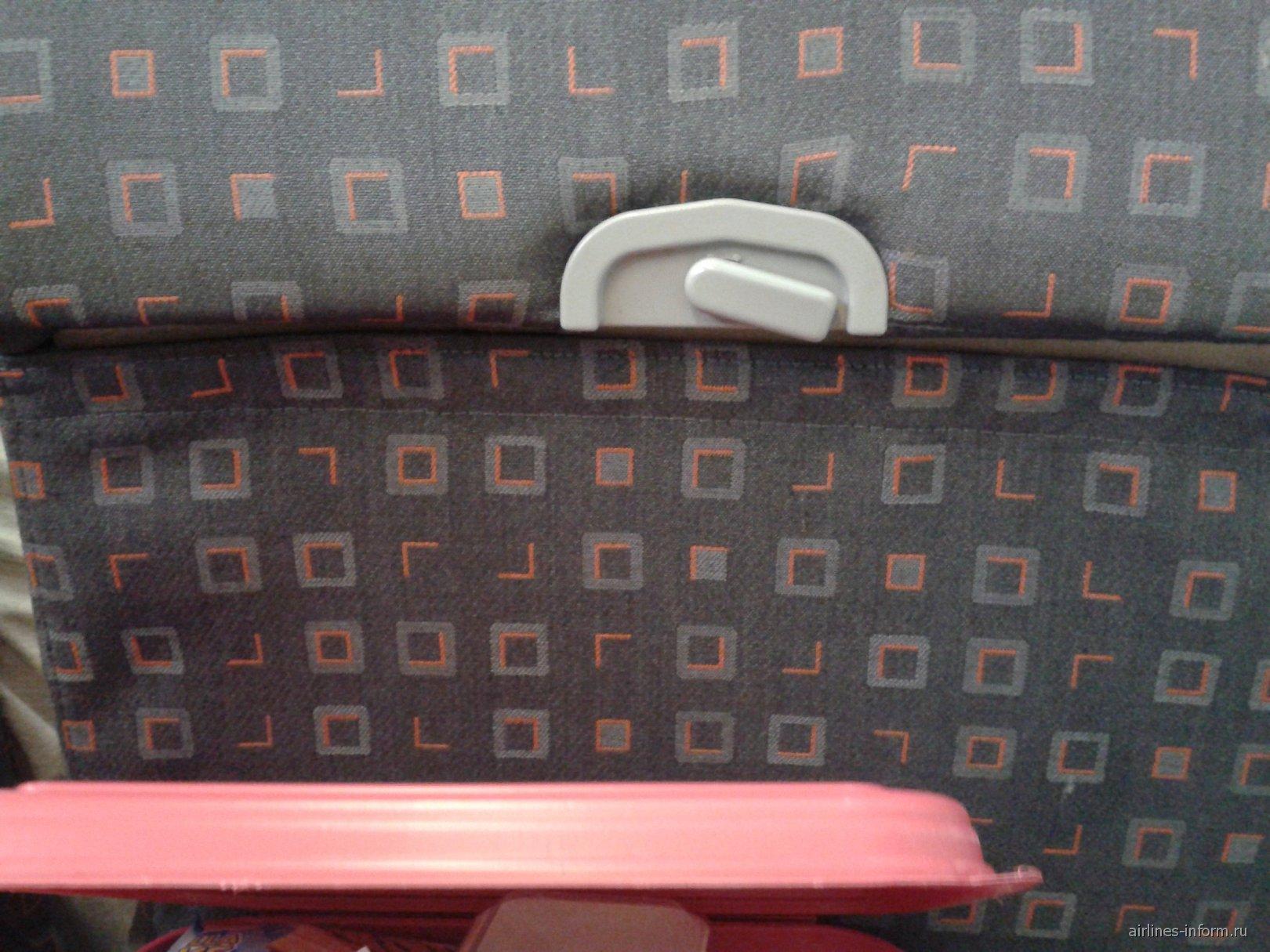 Кресло самолета Airbus A319 авиакомпании Кубань