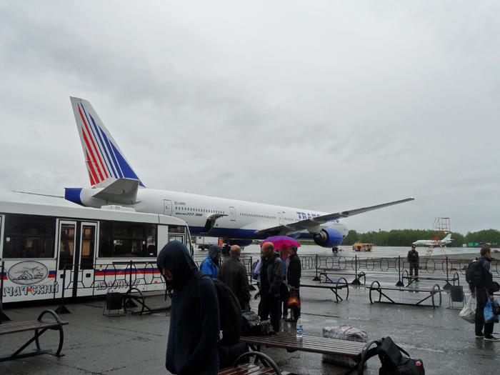 Боинг-777-300 Трансаэро в аэропорту Елизово