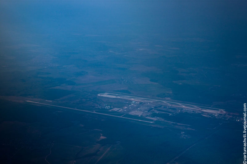 Flying over Domodedovo