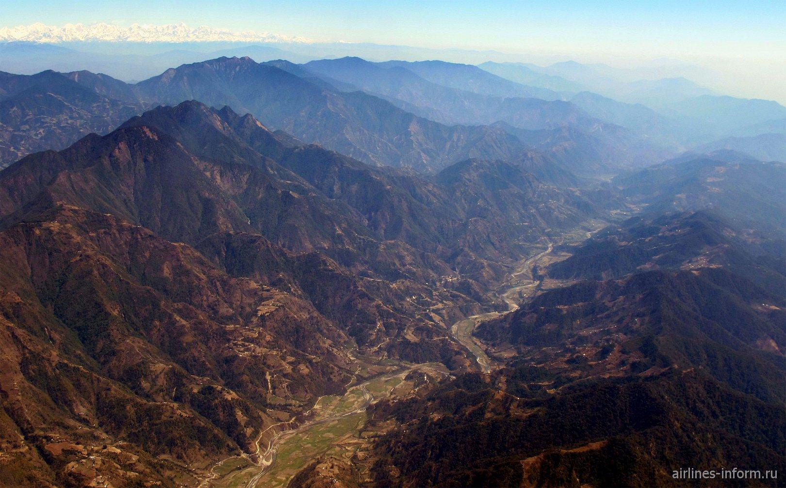 Долина Катманду среди Гималайских гор