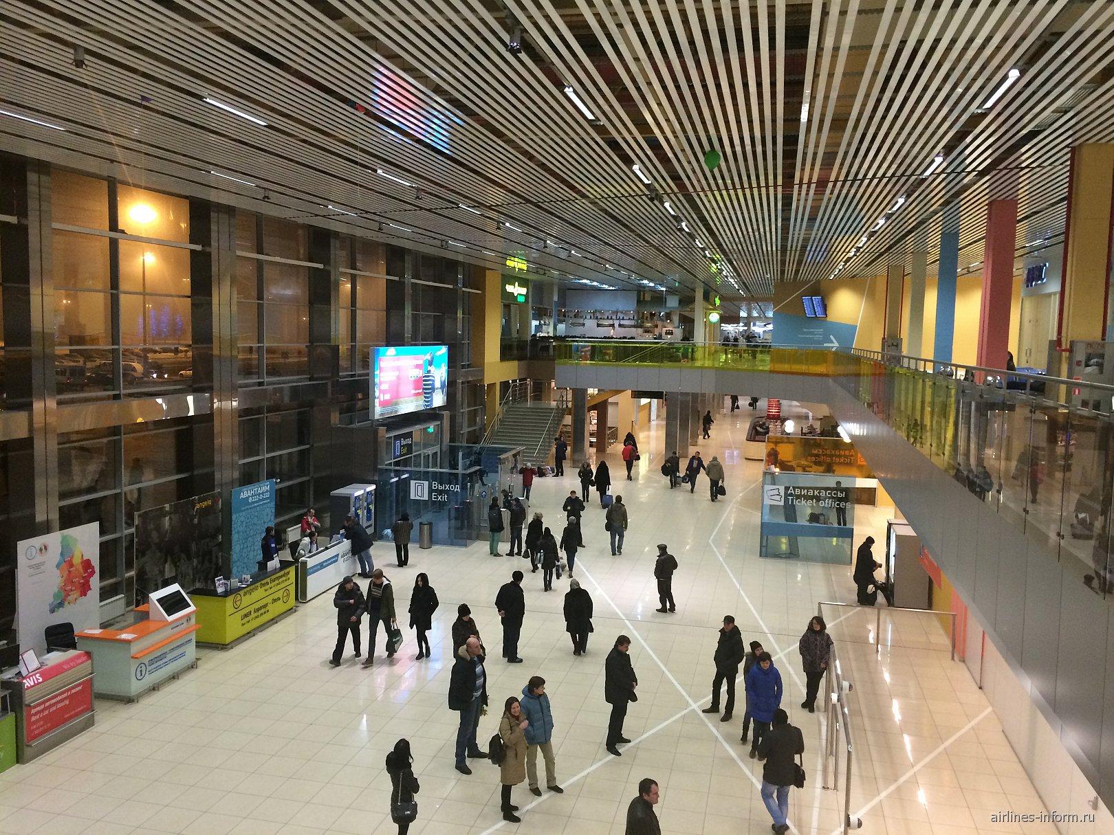 В аэровокзале аэропорта Екатеринбург Кольцово
