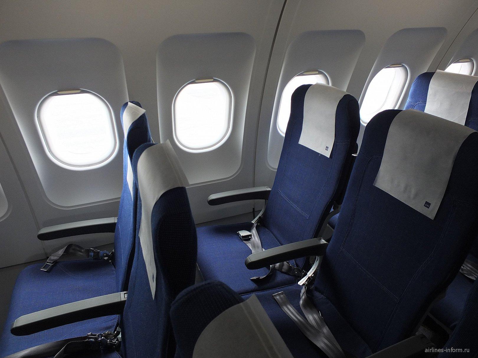 Пассажирские кресла в самолете Airbus A320 авиакомпании SAS