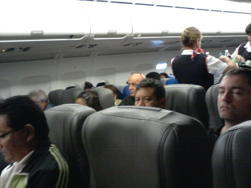 Салон самолета Airbus A319 авиакомпании Avion Express